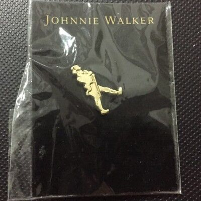 Johnnie Walker Scotch/Whisky-Walking Man-Back Hat Pins-Qty 2 NEW