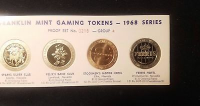 Franklin Mint Gaming Tokens 1968 Series Group 4