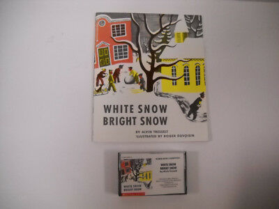 Vintage White Snow Bright Snow Paperback Book With Cassette Tape 1988 Very Nice!