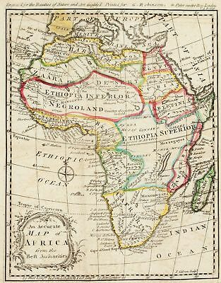 1774 Map of Africa J Gibson Antique
