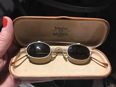 Rare Vintage Early Antique Marius MOREL Spectacles Eyeglasses & Sunglasses