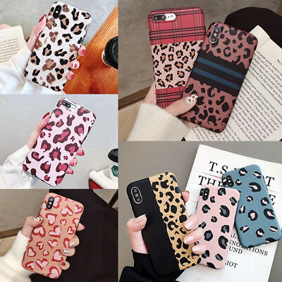 Leopard Animal Print Phone Case Cover For iPhone 6 6s 7 8 Plus XR XS MAX