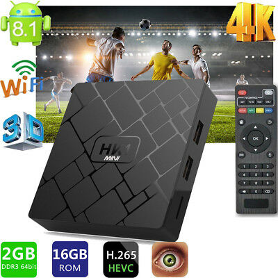 2GB+16GB HK1Mini Android 8.1 TV Box WIFI Smart Media Player