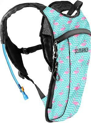Sojourner Rave Hydration Pack Backpack 2L Water Bladder Included For Sports NEW