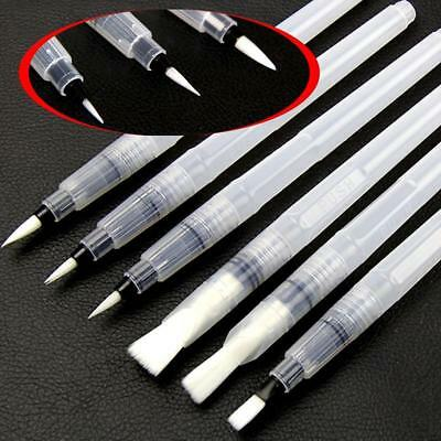 6PCS Artist Ink Water Brush Pen Set For Watercolor Calligraphy Painting Drawing
