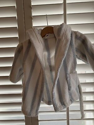 Little White Company Baby Boy Dressing Gown 0-6months