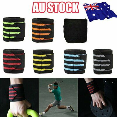 Wrist Wraps Straps Weightlifting Gym Training Wrist Support Straps Elastic S4