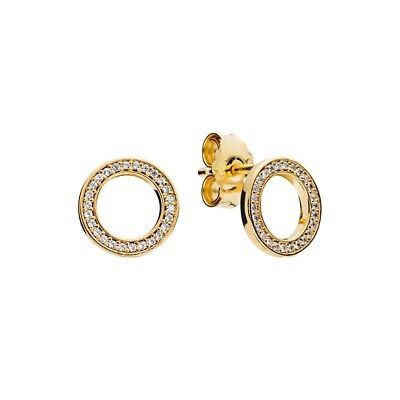 S925 Silver & 18k Gold Pl SHINE Circle Forever Earrings by Pandora's Angels