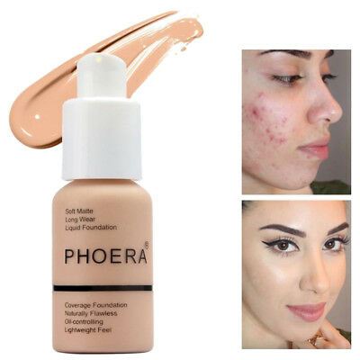 HOT Coverage Concealer Moisturizing Cosmetic PHOERA Liquid Foundation Precious