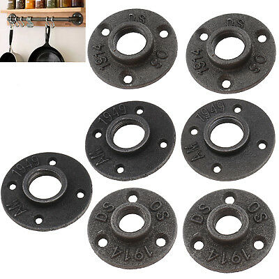 """1/2"""" 3/4"""" 1"""" Malleable Threaded Hole Floor Flange Iron Pipe Wall Mounted"""