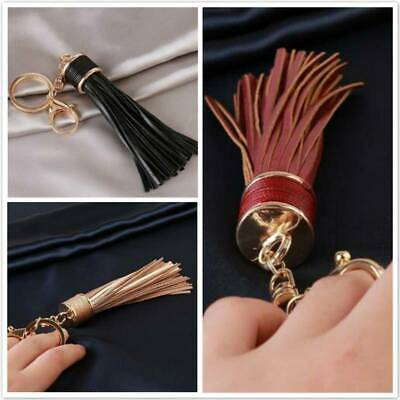Tassel Leather Keyring Charm Pendant Purse Bag Key Ring Chain Keychain Gift OO