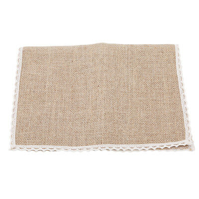 Dinner Table Pads Jute Placemats Table Mat Kitchen Dining Burlap Table Decor OO