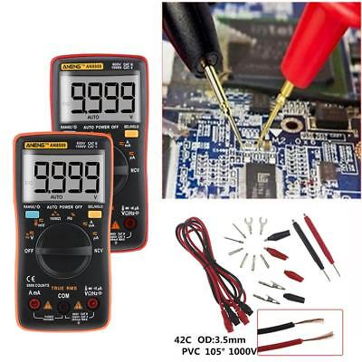 Electrical LCD Digital Clamp Meter Multimeter RMS AC/DC OHM Multi Tester Buzzer