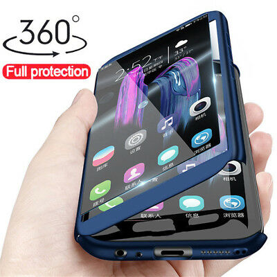360° Full Cover Protect Slim Case +Tempered Glass For Huawei Honor 8 8X 8C 7C 7S