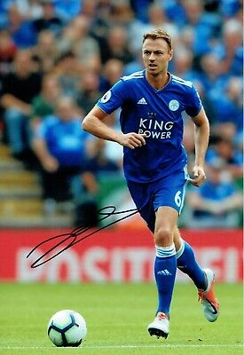 Jonny EVANS Signed Autograph Photo 2 AFTAL COA Leicester City Northern Ireland