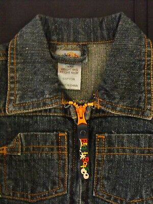 BRIGHT BOTS BABY DENIM JACKET-UNISEX-BOYS or GIRLS - SIZE 00 - NEW WITHOUT TAGS