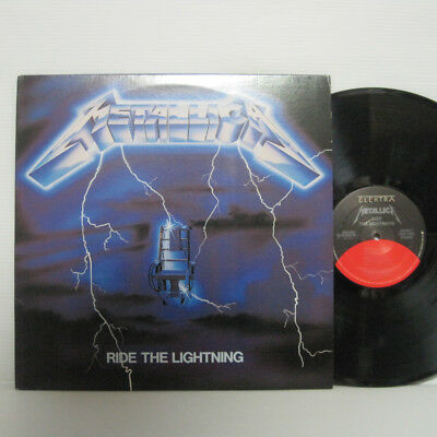 Metallica – Ride The Lightning LP 1984 US Elektra 60396-1 MOTORHEAD THRASH METAL
