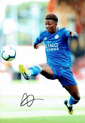Demarai GRAY Signed Autograph Photo 2 AFTAL COA Leicester City ENGLAND