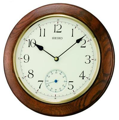Seiko Oak Wall Clock QXA432B