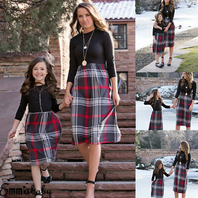 Mother and Daughter Fashion Clothes Parent-child dress Family Matching Outfits