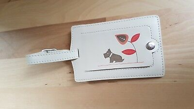 Radley Luggage Tag Real Leather Pink Buckle and Address Cover New without tags
