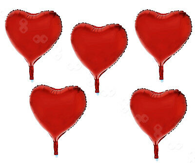 "15Pcs 18"" Red Heart Foil Helium Balloons Valentines Day Wedding Engagement"