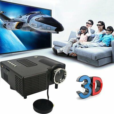 Portable 1080P 2500Lumens HD LED Multimedia Projector Home Cinema Theater Lot T5