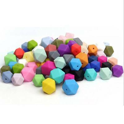 Food Grade Silicone Teether Beads Teething Chew DIY Loose Bead 17mm 10Pcs