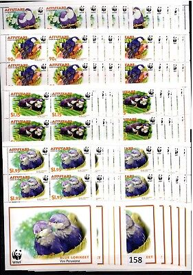 // 10X Aitutaki - Mnh - Wwf - Birds - Nature - Wholesale
