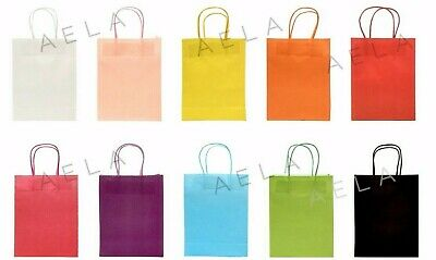 CHEAPEST Luxury Gift Kraft Paper Bag Twisted Handle Strong Party Loot Bag Fast