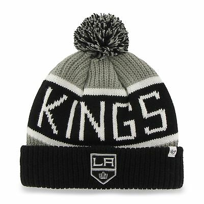 NHL Los Angeles Kings L.A Wollmütze Wintermütze Hustle Cuff Knit Hat mit Pommel Eishockey