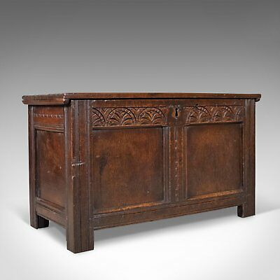 Antique Coffer, English, Oak, Joined Chest, Trunk, Late 17th Century, Circa 1700