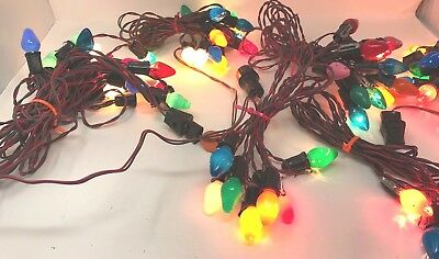Lot General Electric Westinghouse Outdoor Christmas Light Bulbs Strands Vintage