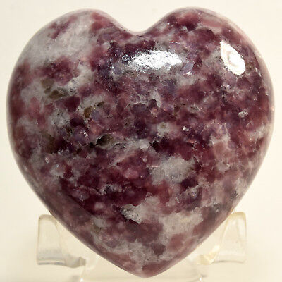"2.8"" Natural Purple Lepidolite Heart Litha Mica Gemstone Crystal Mineral Brazil"