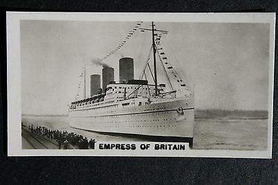 SS Empress of Britain  Canadian Pacific Liner  Vintage Photo Card  CAT A