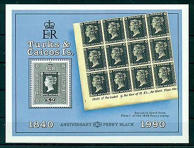 TURKS & CAICOS * 1990* S/Sheet  *MNH** 150 years Stamps - Mi.No BL89