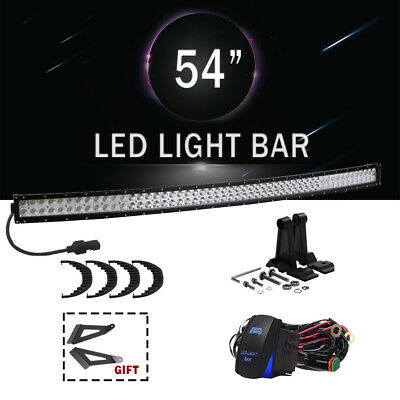 54Inch Curved 312W Led Work Light Bar Combo 4Wd Fog Truck For Jeep Suv 52/54""