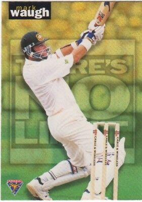 Cricket - Futera 1995 There's No Limit Insert Card Mark Waugh Australia
