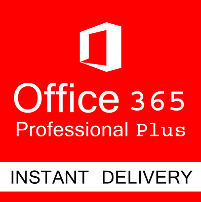 Microsoft Office 365 2016 2019 Pro Key PC/Mac 5TB Use Lifetime INSTANT DELIVERY