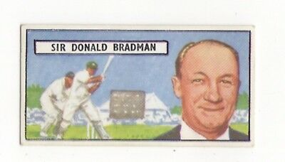 Cricket trade card. Lyons Maid. Don Bradman (Australia)