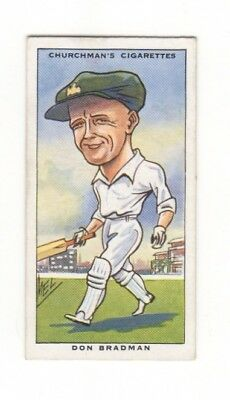 Cricket - Churchman Tobacco Card - Don Bradman 1931