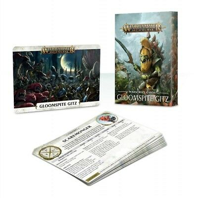 Warscroll Cards: Gloomspite Gitz English Games Workshop Age of Sigmar Brand New