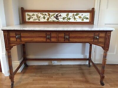 Vintage edwardian wash stand with marble top