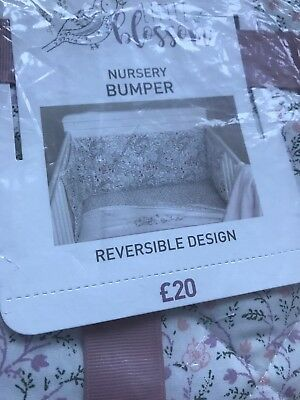 Next Girls Nursery Cot Bumper With A Reversible Design