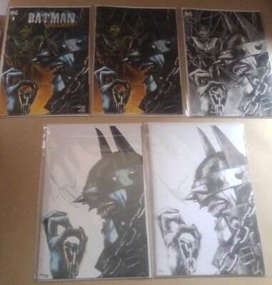 Batman Who Laughs #1 - Mico Suayan Set of 5 - JOCK Signed - Convention Exclusive