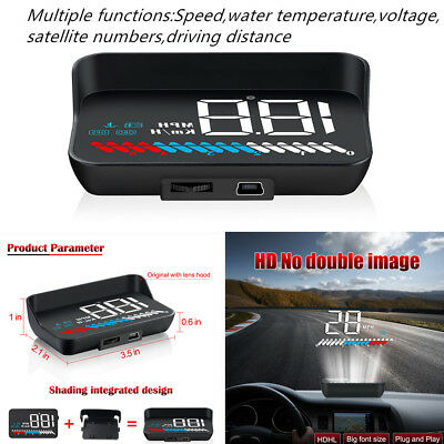 Magical HUD Head Up Display USB OBD GPS Universal Car Windshield SpeedProjector