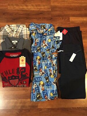 Boys Clothing, Size 10, New w/ Tags, 6 Pieces, Sweatpants, Shirts, PJs, More