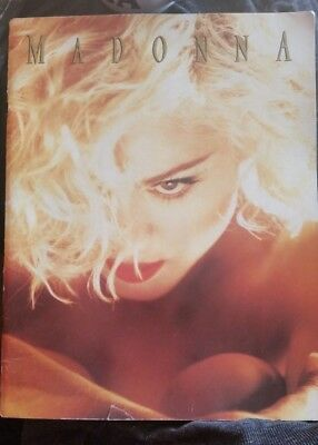 Madonna 1990 programme Original Blond Ambition World Tour Programme