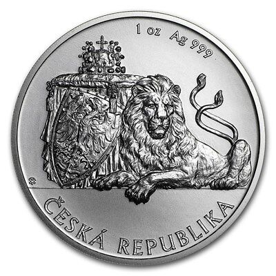 2018 Niue Czech Lion $2 BU 1 oz Silver Coin in Capsule **Limited Mintage**