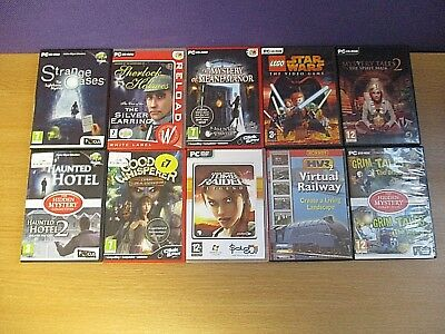 Lot of 10 Computer Games PC CD/DVD